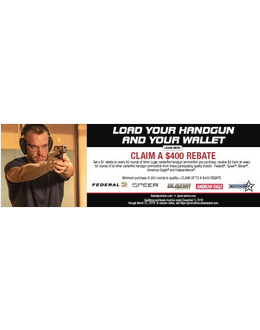 Federal Load Your Handgun and Your Wallet Rebate